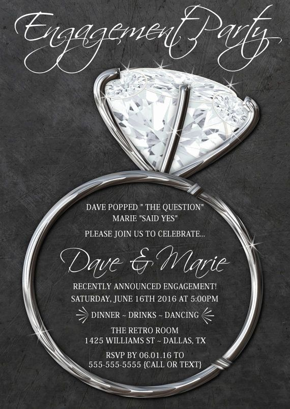 Free Engagement Party Invitation Template New Silver Engagement Free Engagement Party Invitations Templates Engagement Party Invitations Engagement Invitations