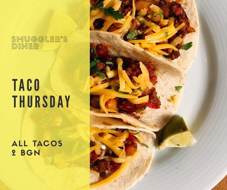 Четвъртък е а това означава само едно при нас - Taco Thursday! Всички такоси са по 2 лева за брой и можете да поръчате колкото ви душа иска! Отваряме в 12!