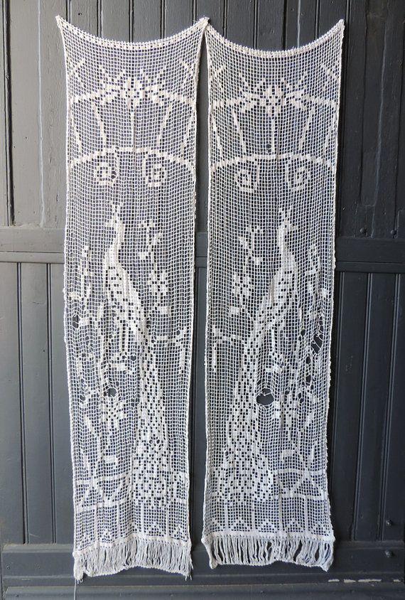 509 mejores imágenes sobre Filet crochet - curtains, doilies ...