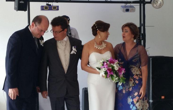 Preguntas del novio al padrino y consejo de la madrina a la novia