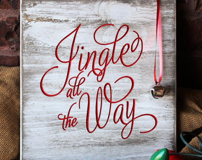 Jingle Bells Wood Sign - Christmas Sign - Jingle All The Way Pallet Sign - Rustic Christmas Decor - Rustic Christmas Sign -Wooden Sign