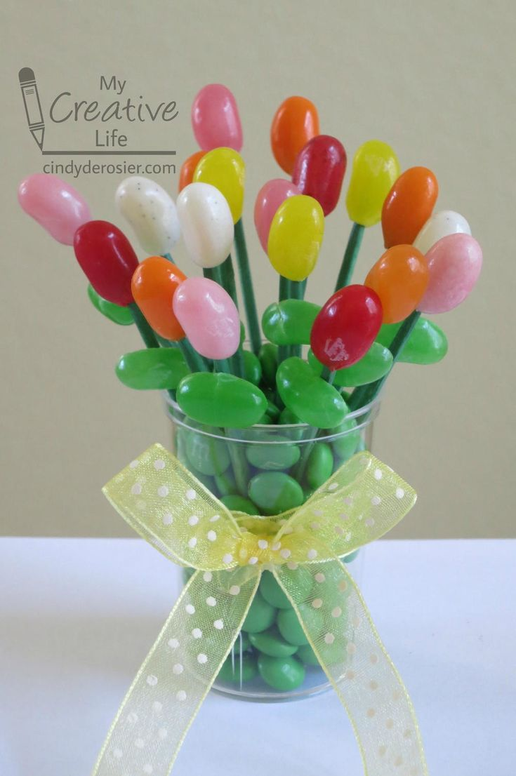 Jellybean Edible Bouquet | What a fun project for spring!