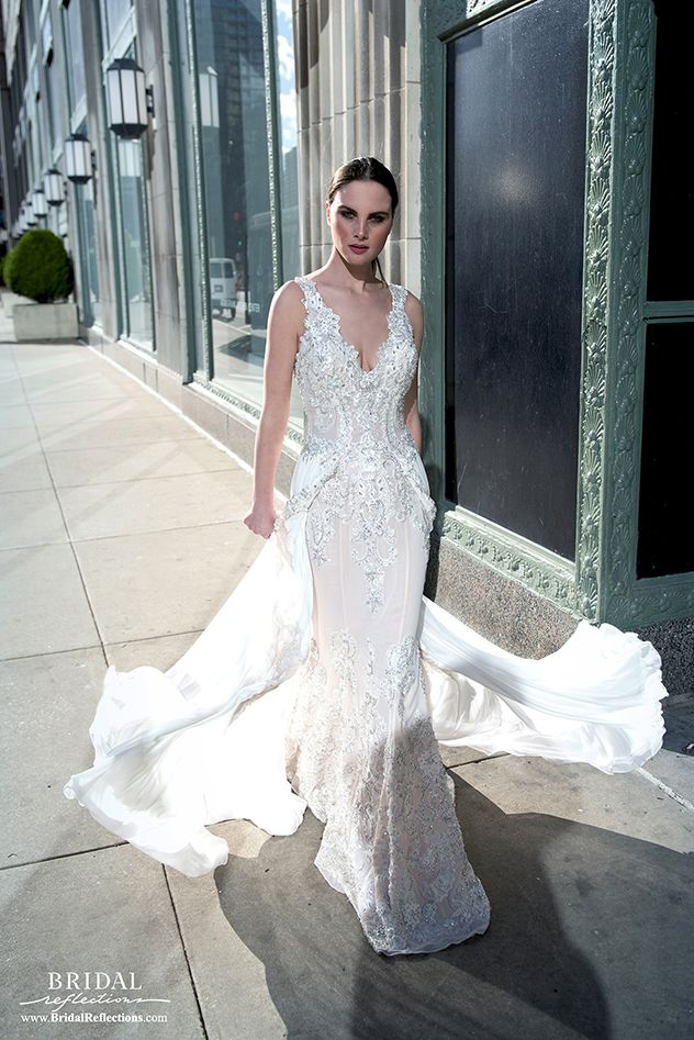 cc4ad576046 ... Gown Collection love this combination trumpet gown and train. Stephen  Yearick Spring 2017 Bridal Collection available at Bridal Reflections in New  York