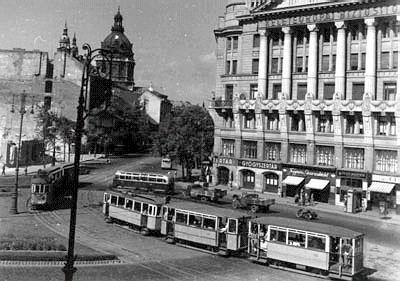 deák tér, budapest, 1950