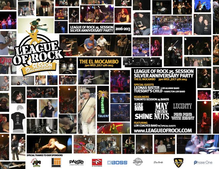 @Alison League Of Rock 25th Silver Anniversary Session Bash! At the famed El Mocambo, in Toronto. July 17th. 7pm.