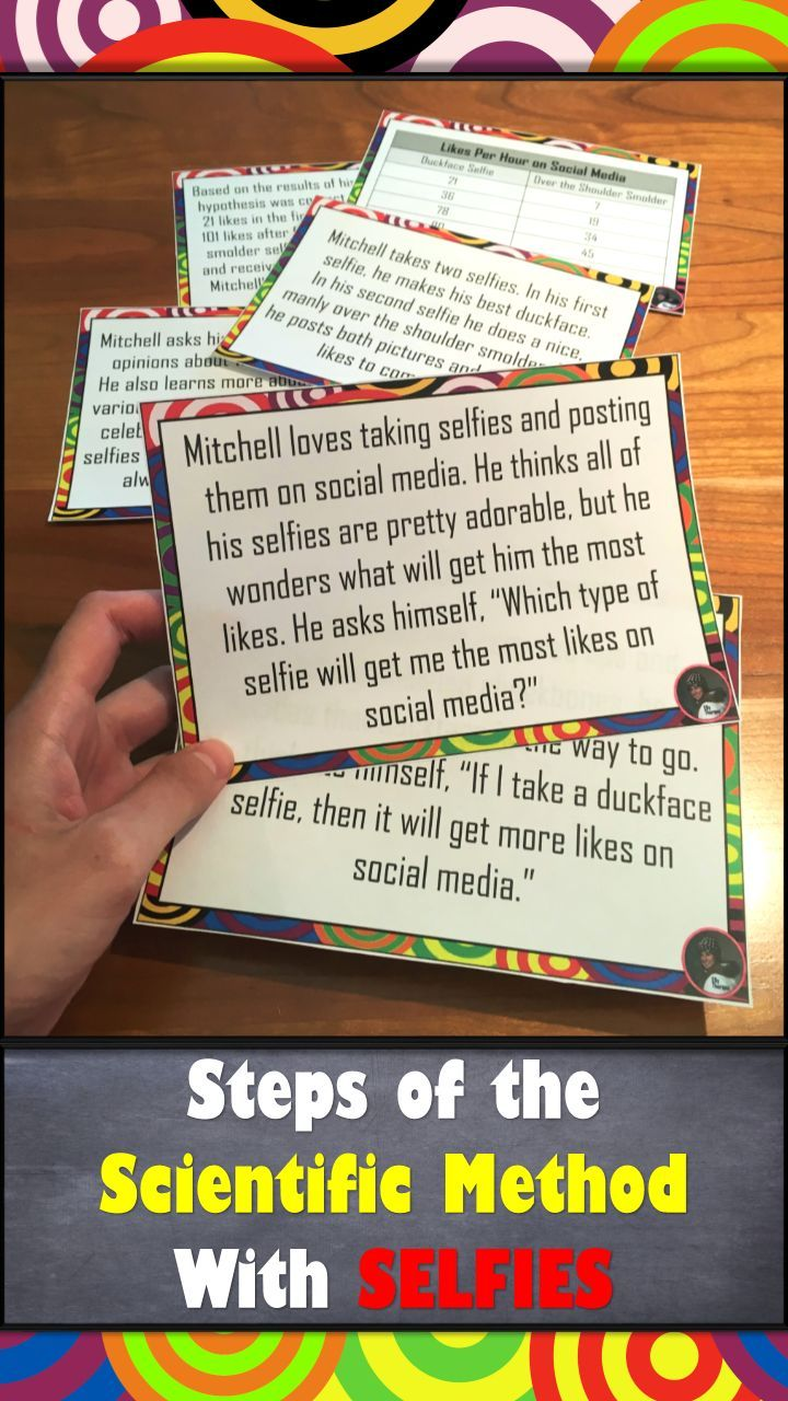 Your middle school students will LOVE this scientific method activity! In groups they work with something seemingly unrelated to the scientific method--selfies!