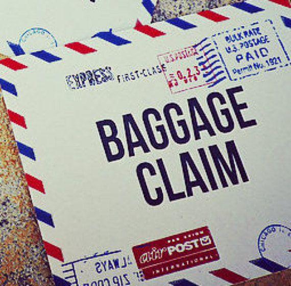 Precious Cargo Baggage Claim Baby Shower Sign