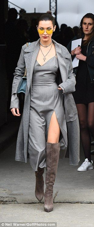 Kendall Jenner joins Bella and Gigi Hadid after Chanel show in PFW #dailymail