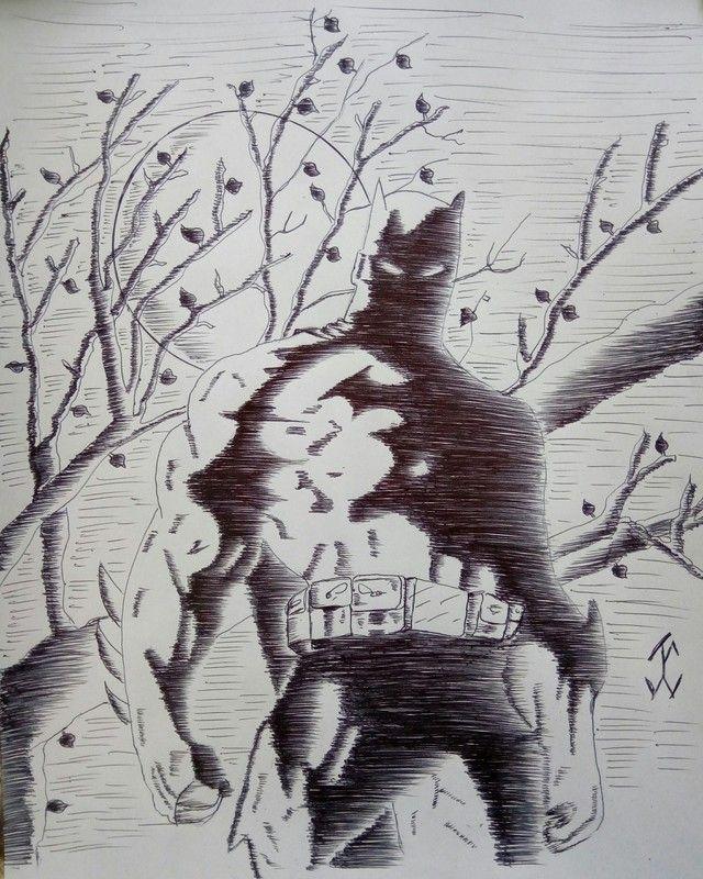 ComicBatman04 #batman #comic #drawing #draw #pen #art #comicdc #movie #brunodiaz #justiceligue