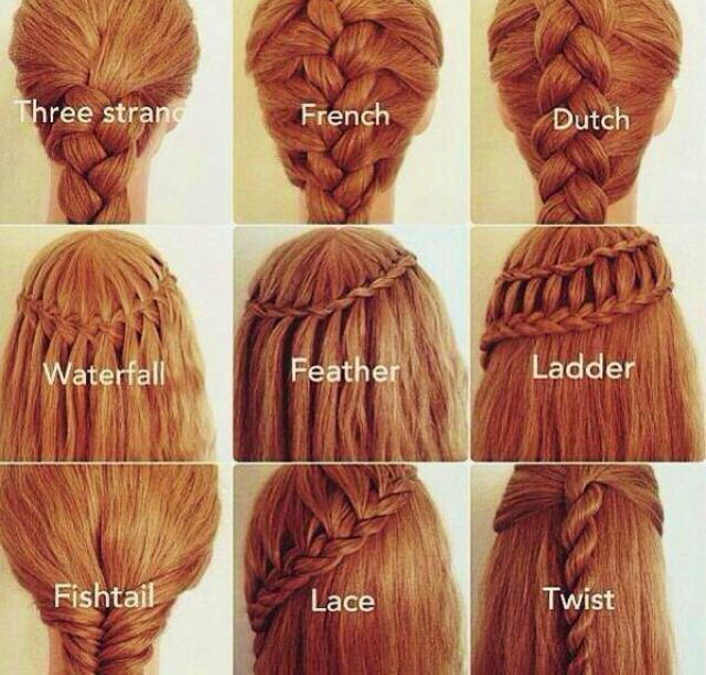 Types of braids !