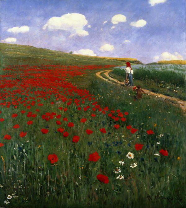 The Poppy Field, Pál Szinyei Merse, 1896 Oil on canvas Magyar Nemzetí Galéria, Budapest
