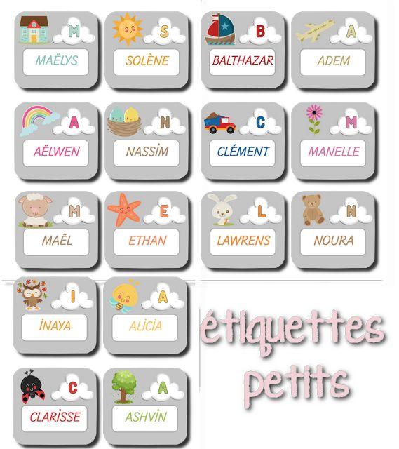 La maternelle de Laurène: étiquettes prénoms