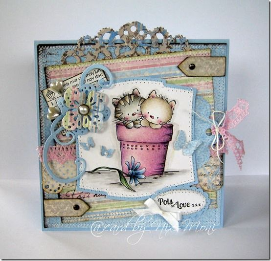Pots Of Love - Lili of the Valley stamp