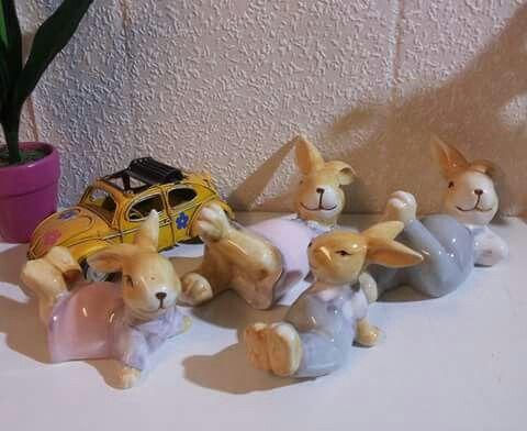 Tembel Tavşanlar biblo Sipariş için 05434610950 whatsapp