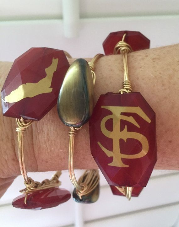 Florida State Seminoles Wire Wrapped by MadeWithLoveBangleML