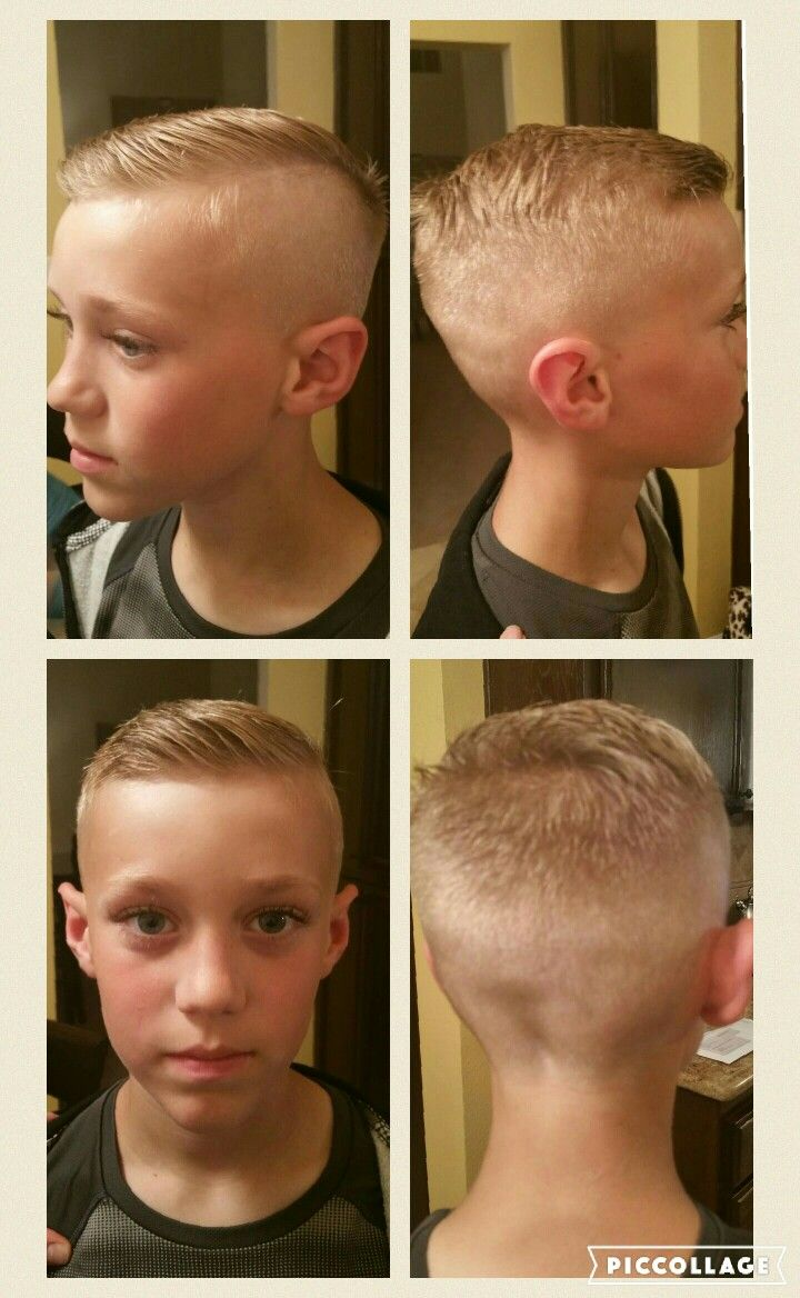 Boys 50s clean cut side parted short haircut. Best one he's had in a while. Had to save for next time.