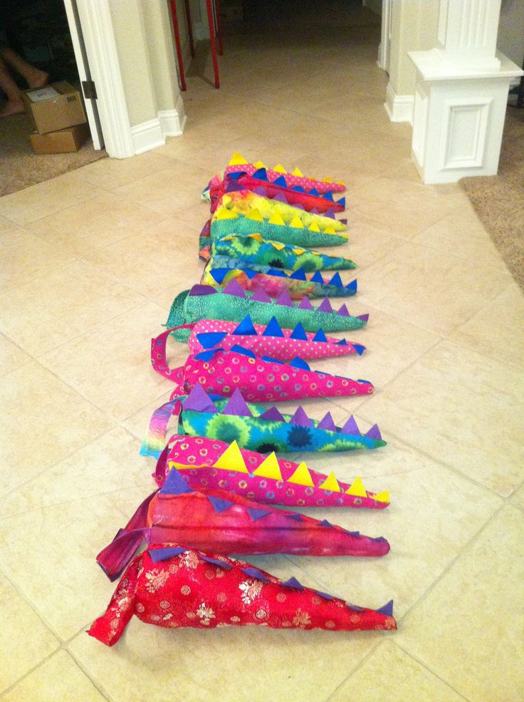 Dragon tails for little girl dragon themed birthday party