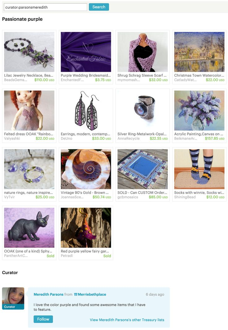 Passionate purple - #Etsy Treasury by Merriebethplace
