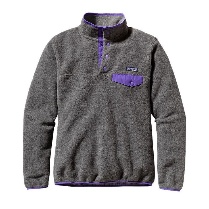 Patagonia Women\'s Synchilla\u00AE Lightweight Snap-T\u00AE Fleece Pullover - Nickel w/Violetti NKVT-732