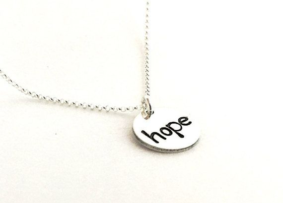 Hoffe auf eine Kette. Halskette Sterling von hopeonaropejewelry