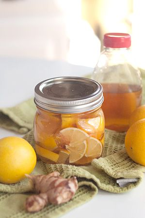 We do a honey lemon cayenne pepper remedy for sore throats and colds, but I love gigner so I'll definitely have to try this one. Lemon, Honey, and Ginger Soother for Colds and Sore Throats by lanascooking #Sore_Throat