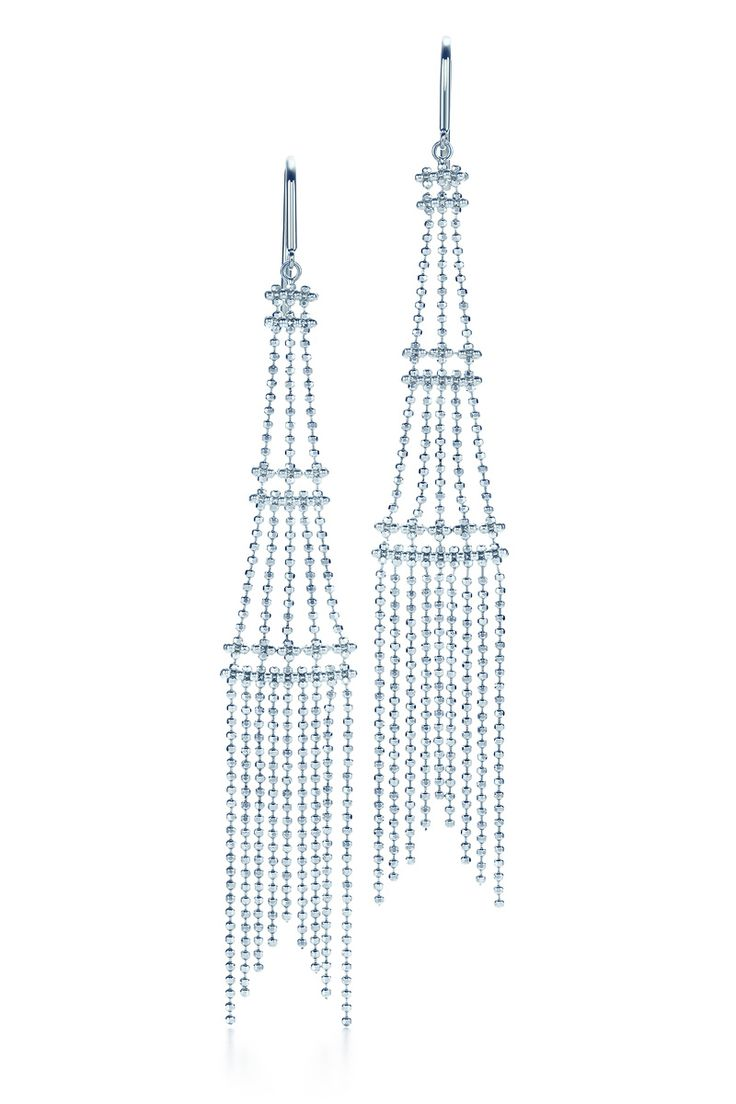 New Earrings In Sterling Silver From The Ziegfeld Collection  #tiffanypinterest