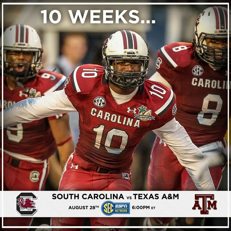 10 weeks until GAMECOCK FOOTBALL!