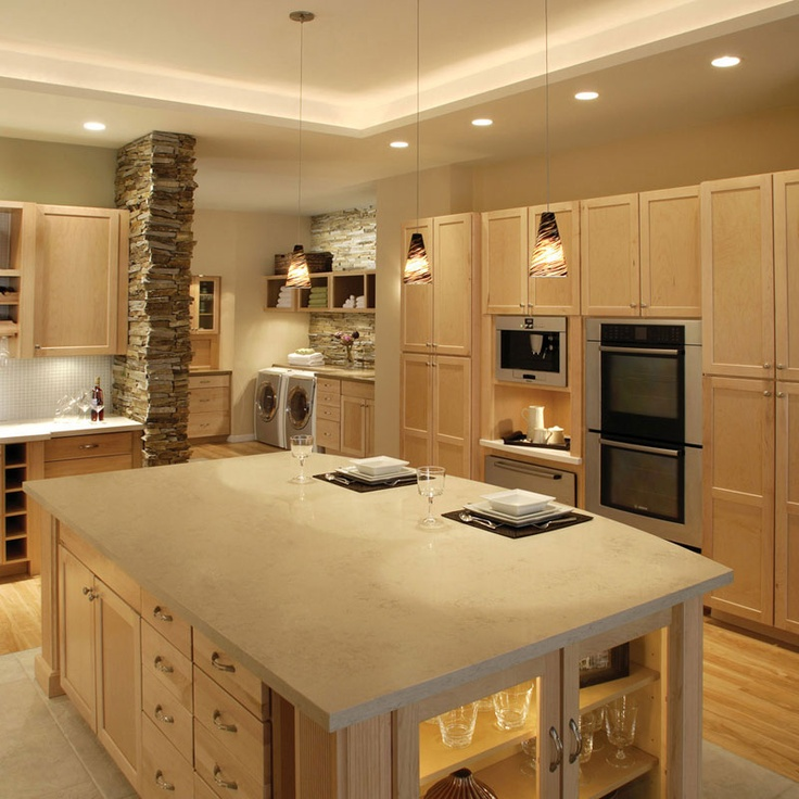19 Best Kitchen Lighting Images On Pinterest: Gonna Have A Big Kitchen Like This!...love The Lighting In
