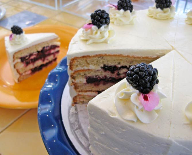 Lavender Blackberry Cake   Courtesy of Buttercloud Bakery and Cafe. Medford. Top 10 restaurants