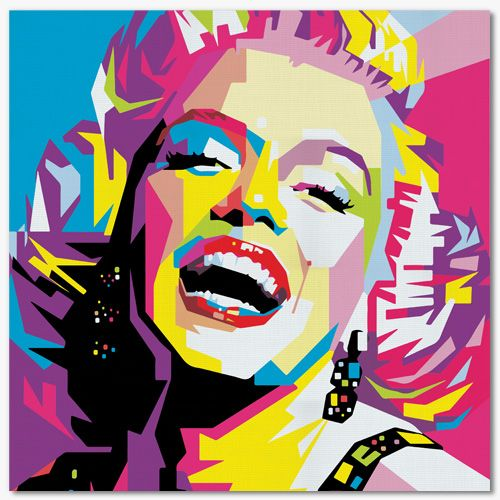tableau pop art marylin monroe tableau pop art pinterest dessins marqueurs acryliques et. Black Bedroom Furniture Sets. Home Design Ideas