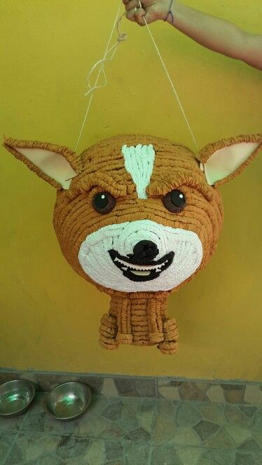 Piñata chihuahua enojado... cualquier idea que tengas la podemos hacer realidad. #LasUnicasPiñatasQueNoQuerrasRomper
