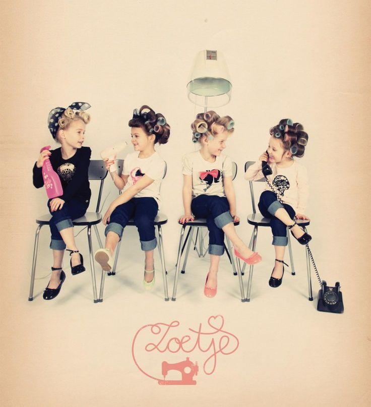Zoetje & Nozem rockabilly 50's girl Vintage Retro curlers
