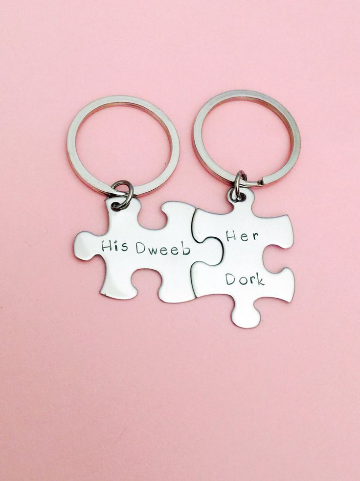 Boyfriend Gift, His Dweeb Her Dork, Valentines Gift, Couples Keychains, Couples Puzzle Keychains,Couples Gift,stocking stuffer,Gift for him