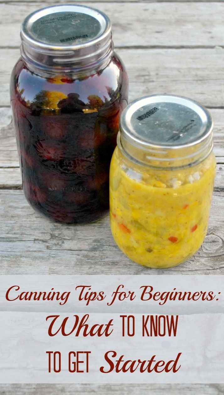 Canning Tips for Beginners: What to Know Before you Get Started. One homesteader tells you everything you need to know to get preserving.