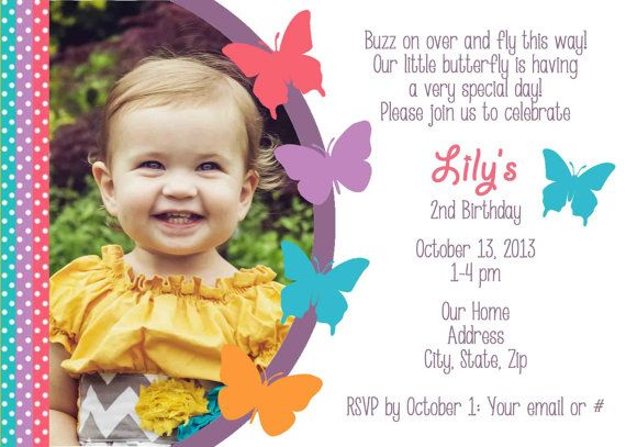 73 best cumpleaños images on pinterest | cards, butterflies and, Birthday invitations