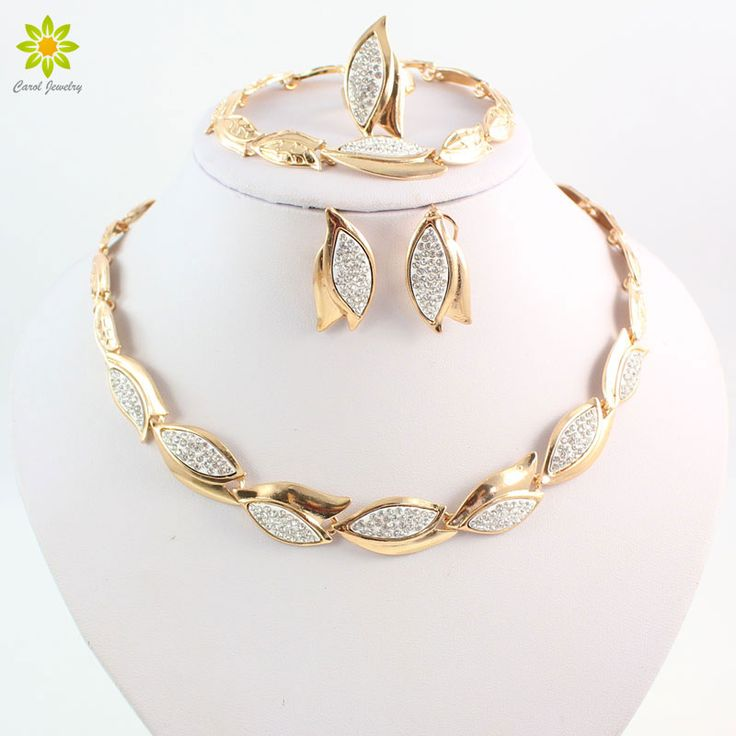 Find More Jewelry Sets Information about Fashion Women Party Gold Plated African Bead Jewelry Sets Crystal Leaves Shape Necklace Bracelet Earrings Ring,High Quality earings,China earrings circle Suppliers, Cheap earring jewelry holder from Carol Jewelry on Aliexpress.com