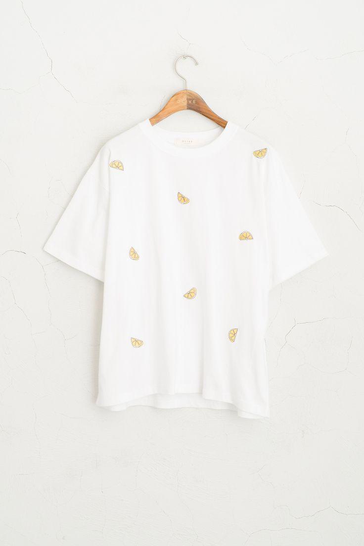 Olive - Lemon Stitch Short Sleeve Tee, White, £29.00 (http://www.oliveclothing.com/p-oliveunique-20160310-043-white-lemon-stitch-short-sleeve-tee-white)