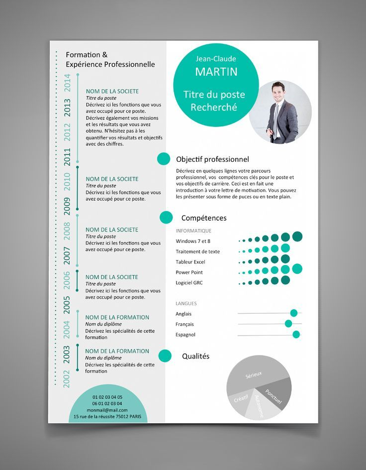 Afficher lu0027image du0027origine Template Cv Free Pinterest - resume templates libreoffice