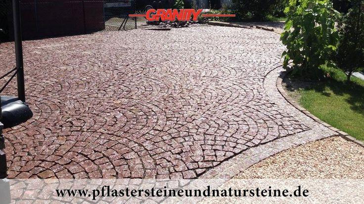 Pflastersteine aus Granit (rot, Vanga - ein importiertes, schwedisches Material) - Foto von unseren Kunden