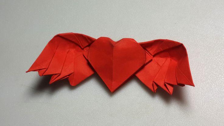 Origami Winged Heart 3 0 Tutorial Diy Henry Phạm Origami Heart Origami Heart With Wings Origami Love