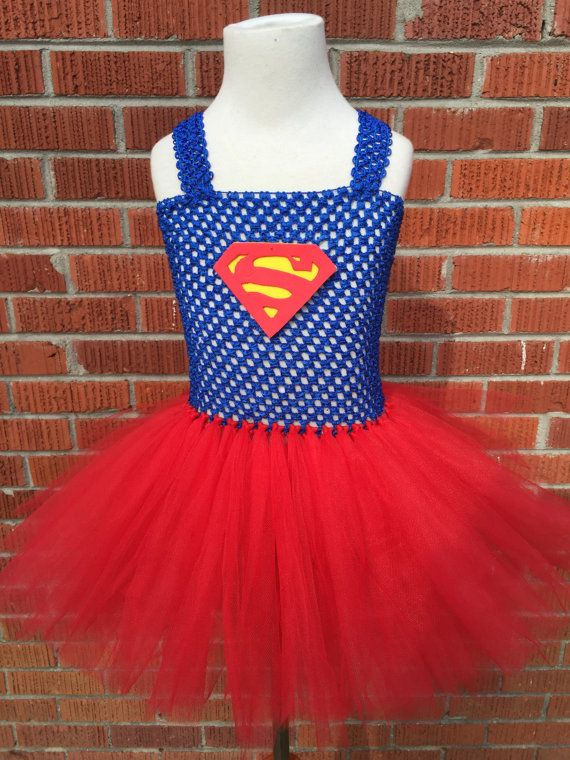 Superman Tutu Dress - Superman Halloween Costume - Superman Costume for Toddlers…