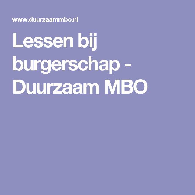 Lessen bij burgerschap - Duurzaam MBO