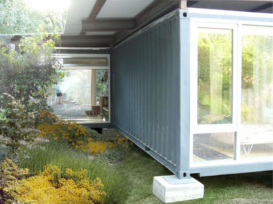 Container foundation shipping containers pinterest for Shipping container pier foundation
