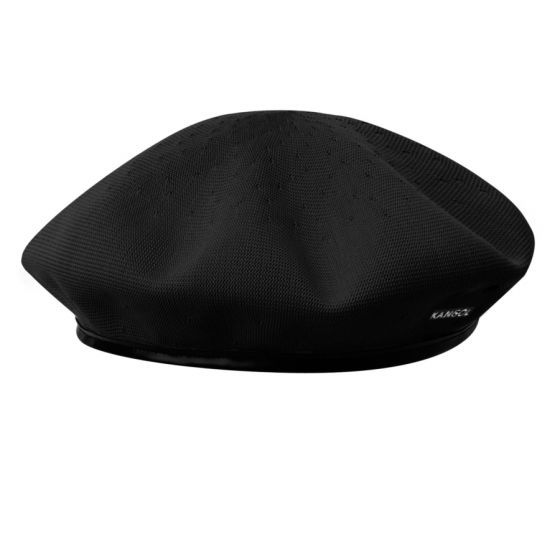 Field Marshal Montgomery (Monty) wore a Kangol® Beret as he commanded his troops in World War II. This traditional Kangol® military beret in Tropic, with a faux leather band & metal eyelets, has made the transition from the battlefield to the streets.