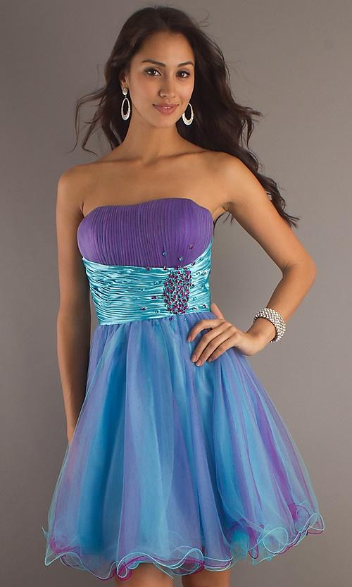 Short Strapless Homecoming Dress