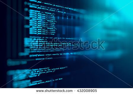Programming Code Abstract Technology Background Of Software Developer And