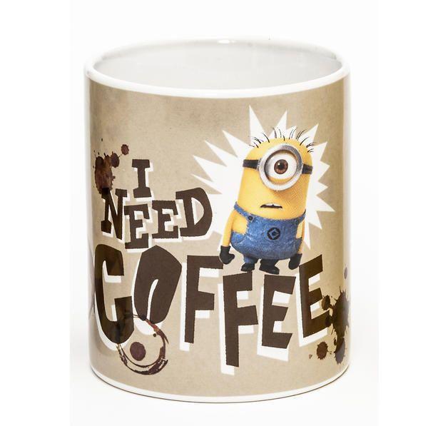 Ich - Einfach Unverbesserlich 2 Tasse I Need Coffee - Minions