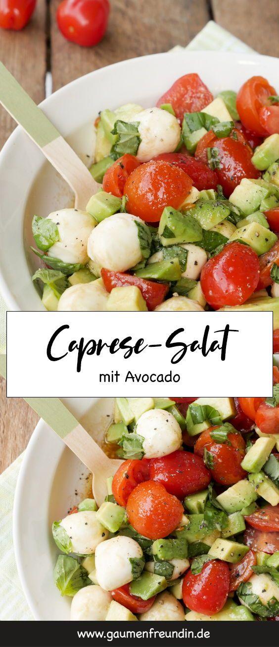Schneller Caprese-Salat mit Avocado und TomatenFür den leckeren Caprese-Sal …   – LOW CARB REZEPTE | low carb food