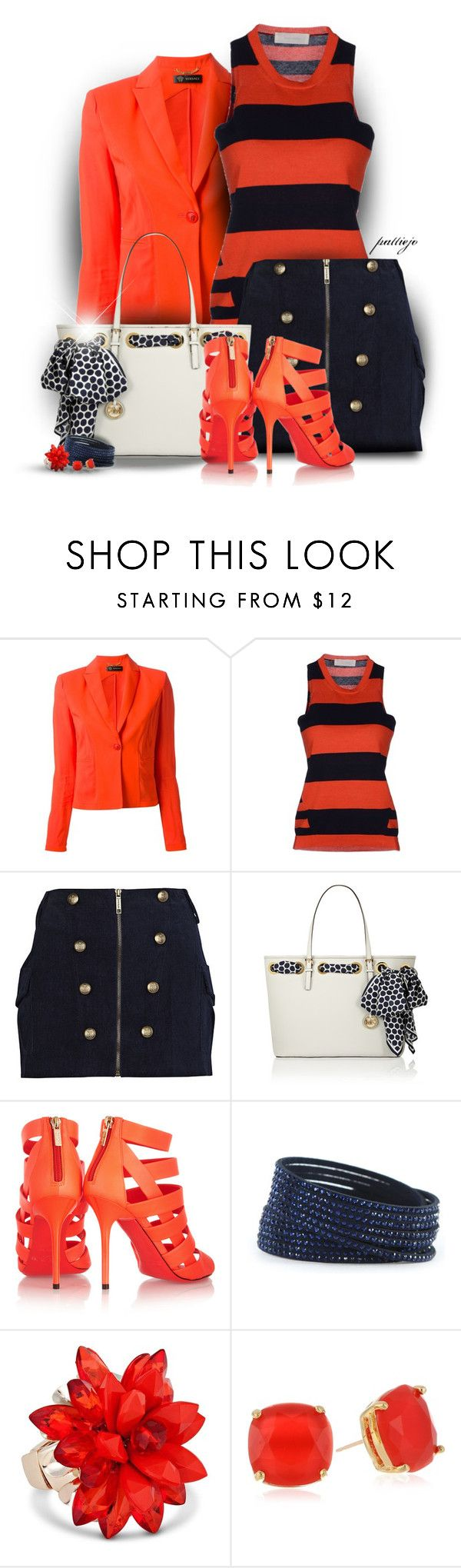 """""""First Mate"""" by rockreborn ❤ liked on Polyvore featuring Versace, Mauro Grifoni, River Island, MICHAEL Michael Kors, Jimmy Choo, Swarovski, Betty Jackson and Kate Spade"""