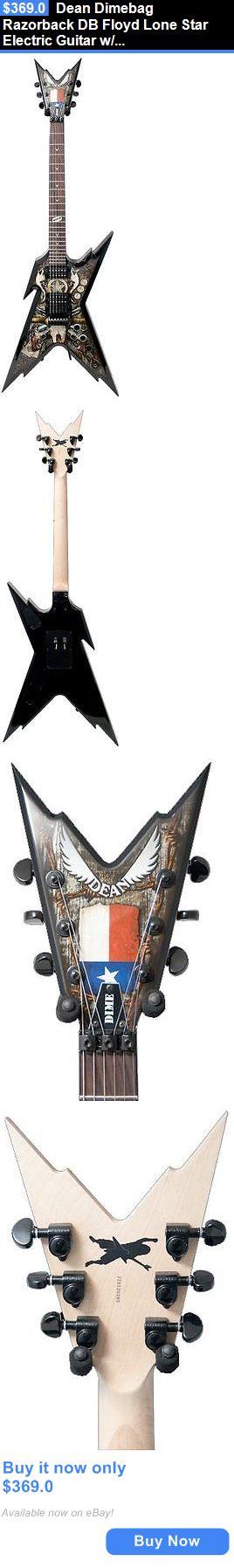 musical instruments: Dean Dimebag Razorback Db Floyd Lone Star Electric Guitar W/ Case, New! BUY IT NOW ONLY: $369.0